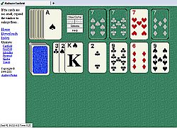 click for a bigger picture of JSolitaire (Canfield)